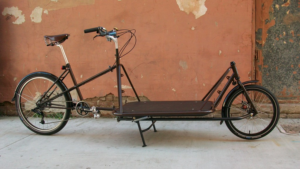 The Cargo Bike Collective uses specially designed bikes like the one pictured here to transport goods across NYC.